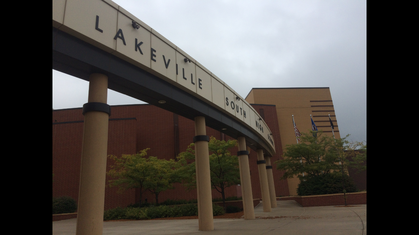 The front of Lakeville South High School, which is the home of recently retired head football coach Larry Thompson.